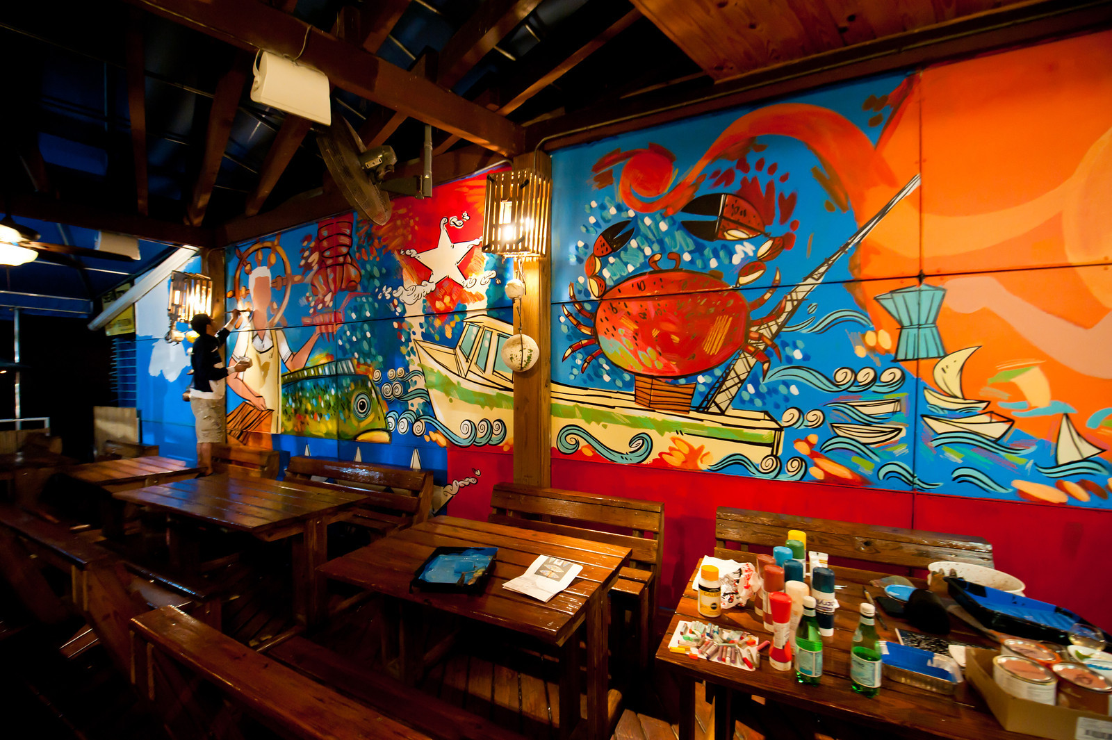 Garcia 39 s seafood grille and fish market miami artist lebo for Fish market miami